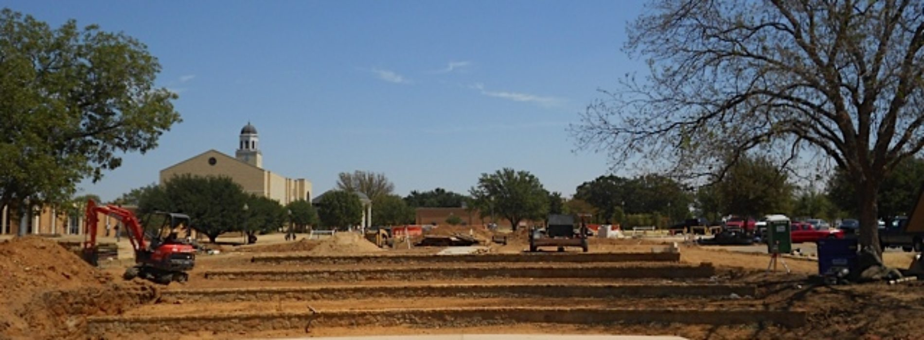 Construction Continues on Outdoor Theater