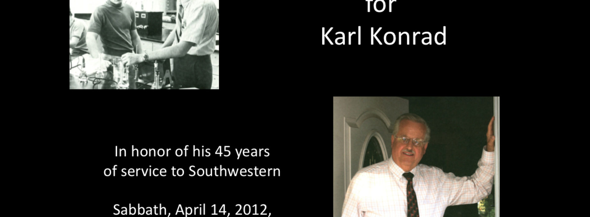 Reception To Honor Karl Konrad