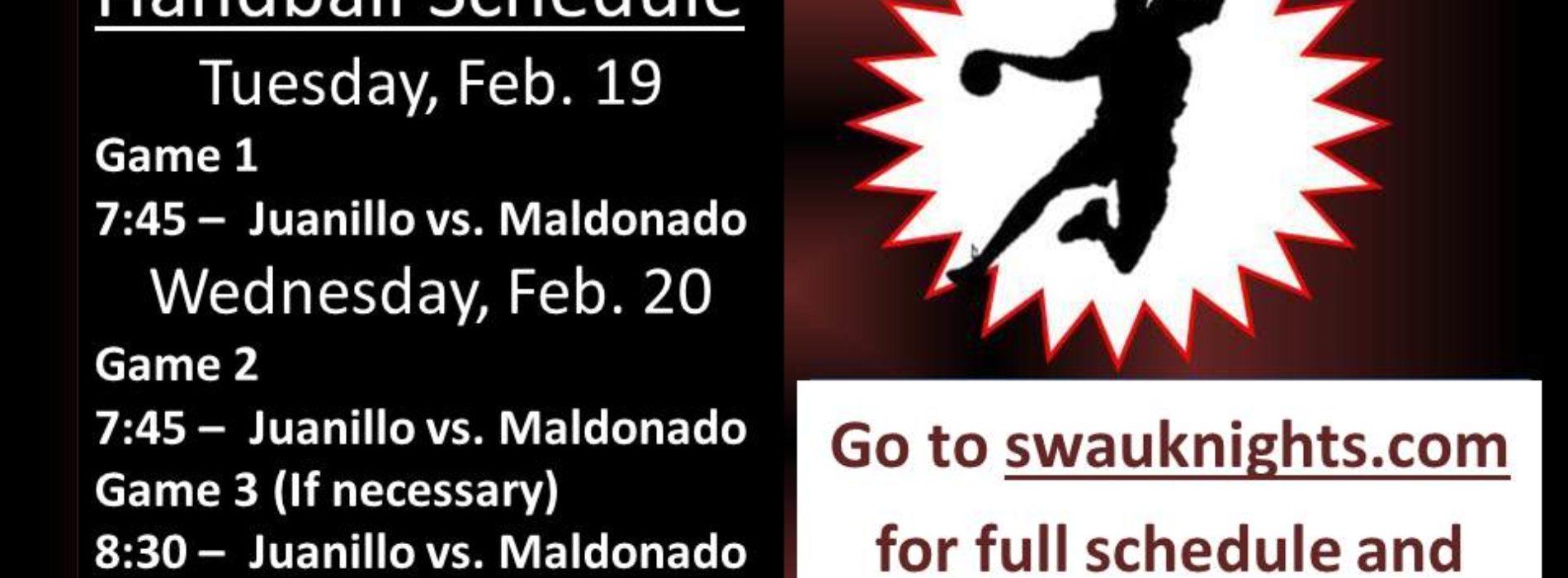Intramural Handball Schedule