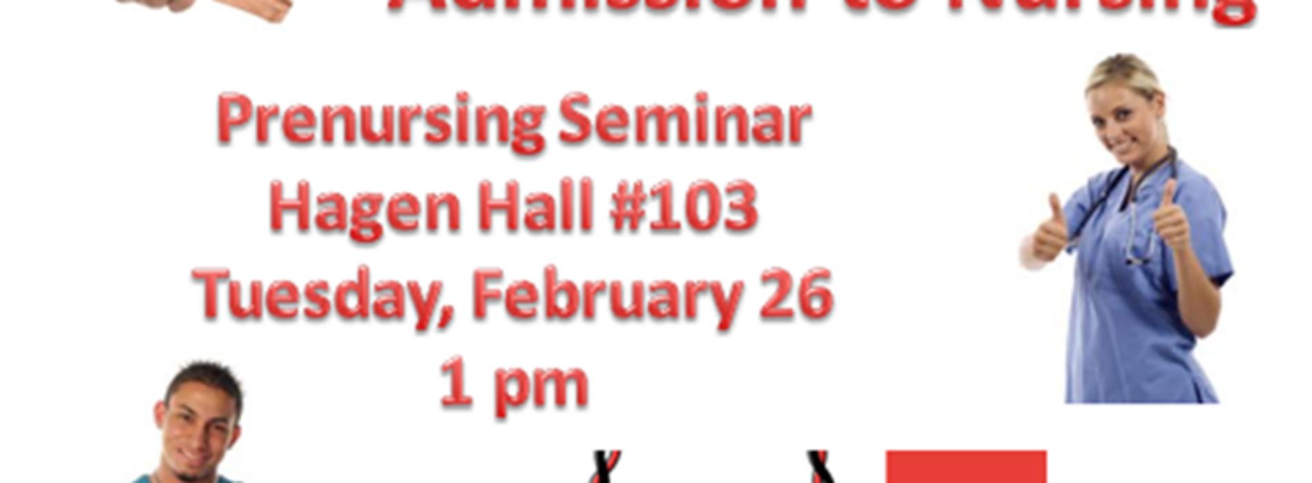 Pre-Nursing Seminar Set for Feb. 26