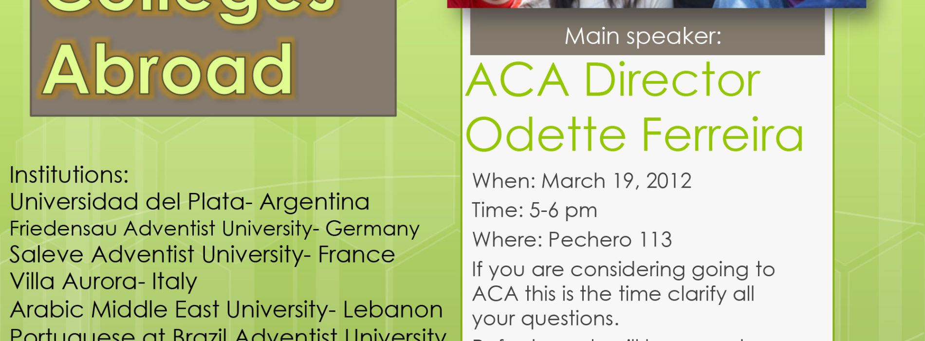 ACA Meeting Set for March 19