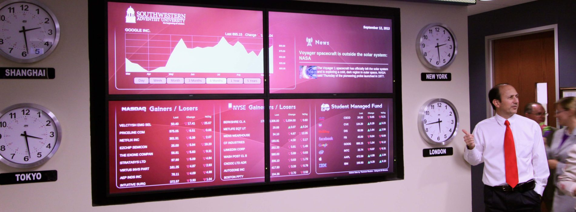 Business Department Unveils New Information Wall