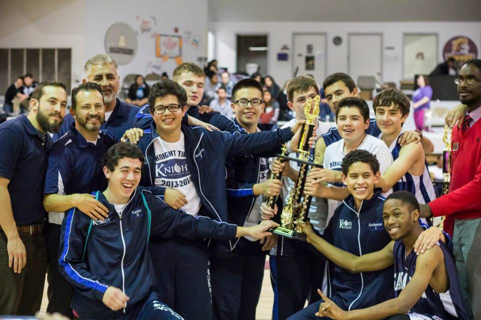 The Sandia View Academy Knights won the Small School Men's Division championship.