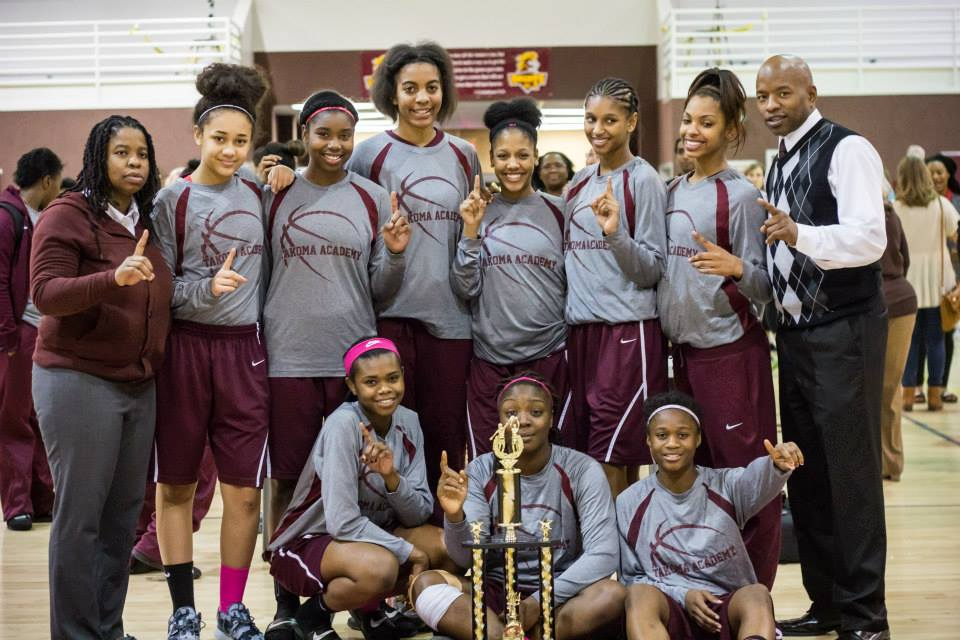 Takoma Academy Varsity Lady Tigers won the championship for Ladies' Large School in this year's Hoops Classic