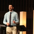 Austin Powell, sophomore theology major, starts out Week of Prayer on Monday with a sermon on pride.