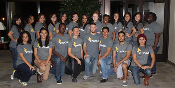 Last year's Enactus Team.