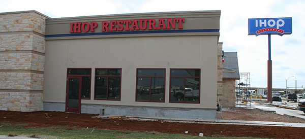 The new IHOP restaurant is located on 174 across from Albertson's in Cleburne.