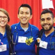 Mauricio Negrete, Southwestern senior nursing major (center) stands with Annalise Lang, a volunteer from California and Dr. David Chang from Australia.