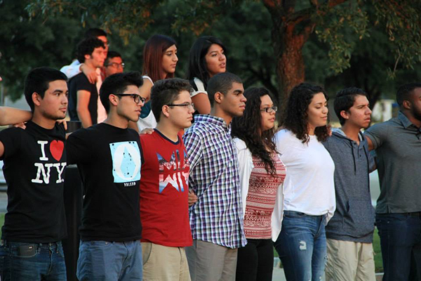 Incoming freshmen join together during CORE activities in August.