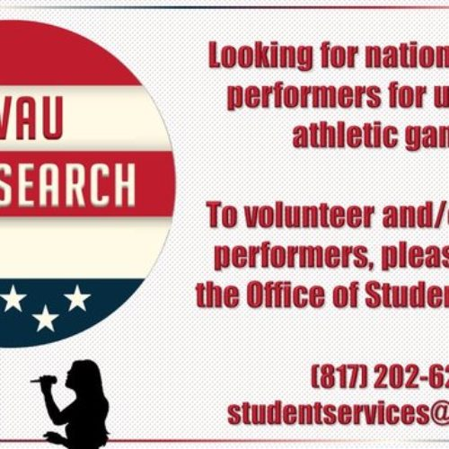 Singers Sought for Upcoming Games