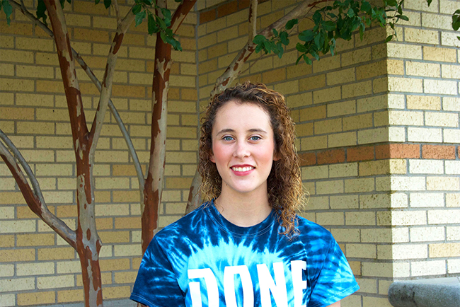 First-year music and biology major Lindsey Johnson hopes one day to master mixed- gymnastics.