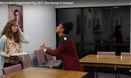 English Dept. Prepares for Annual Play: She Stoops to Conquer