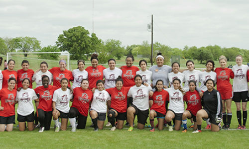 Alumni Battle Knights in 2nd Annual Soccer Match