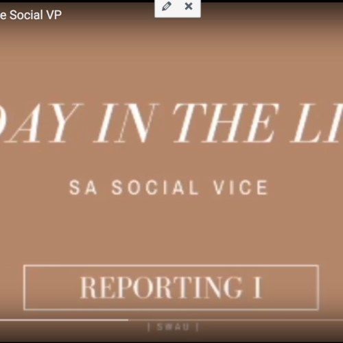 Life As An SA Officer: The Social VP (Video)