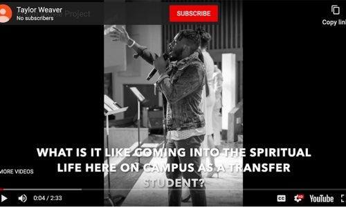 Spiritual Life and the Transfer Student to SWAU (Audio Slideshow)